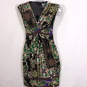 Cache Brilliant colors v neck sleeveless $74 OBO